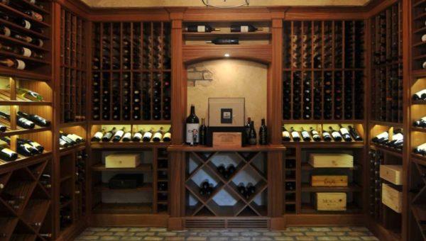 custom wine cellars with shelves