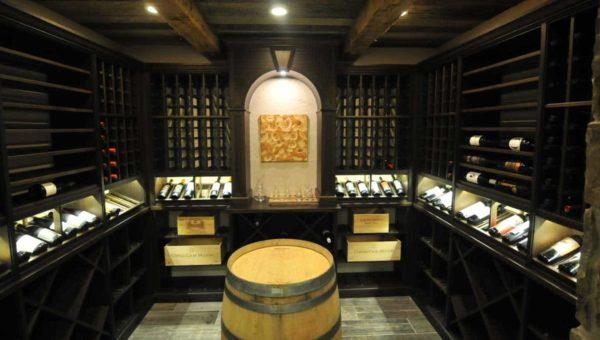 custom wine cellars with barrel